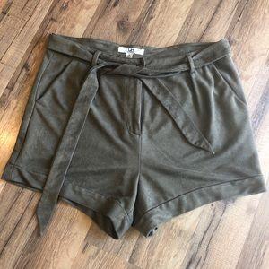Ya Los Angeles faux suede shorts